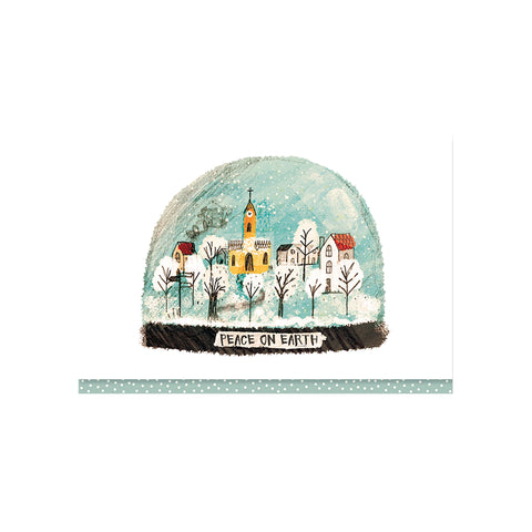 Village Snowglobe Boxed Cards