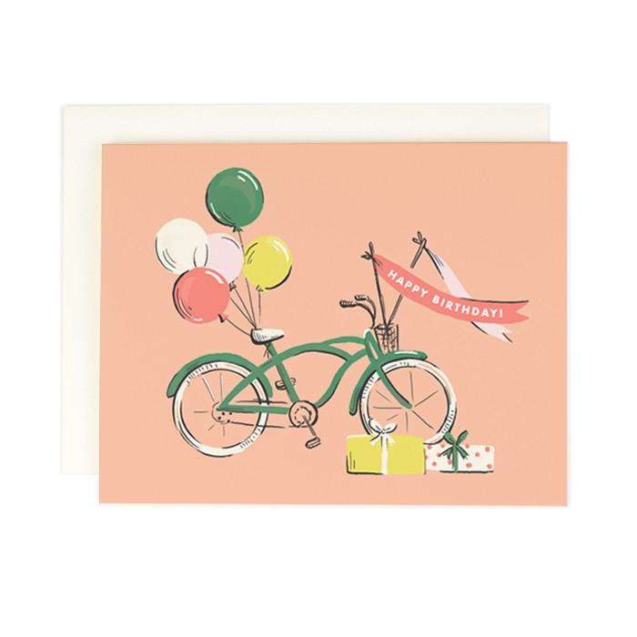 Bicycle Birthday Single Card