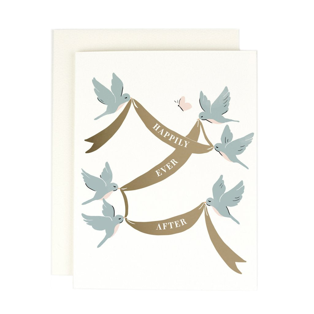 Happily Ever After Birds Single Card