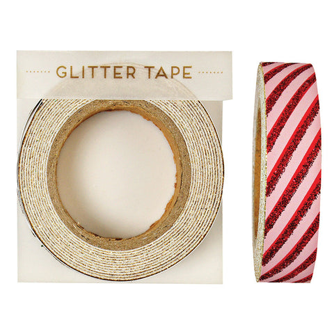 All Wrapped Up Red Stripe Glitter Tape