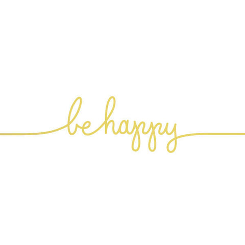 Gold Be Happy Temporary Tattoo (set of 2)