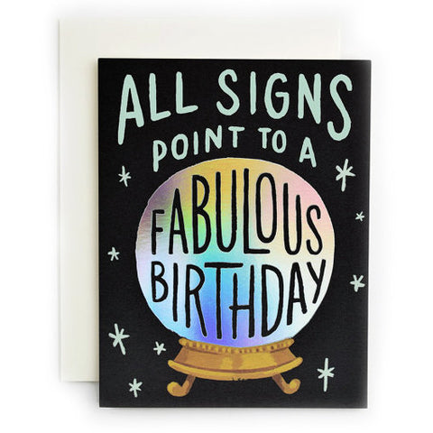Fabulous Birthday Fortune Single Card
