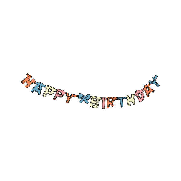 Birthday Garland Temporary Tattoo (set of 2)