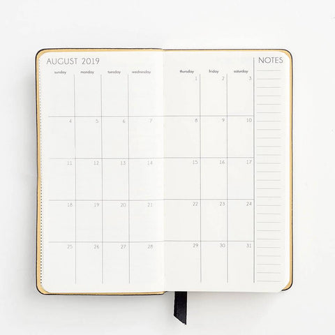 2019-2020 Weekly Small Black Planner