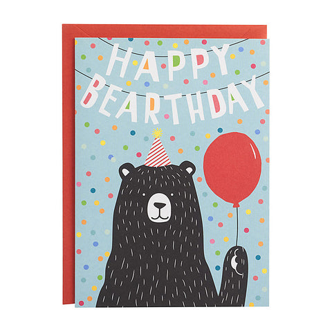 Happy Bearthday Single Card