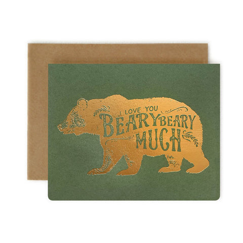 Love You Beary Much Single Card