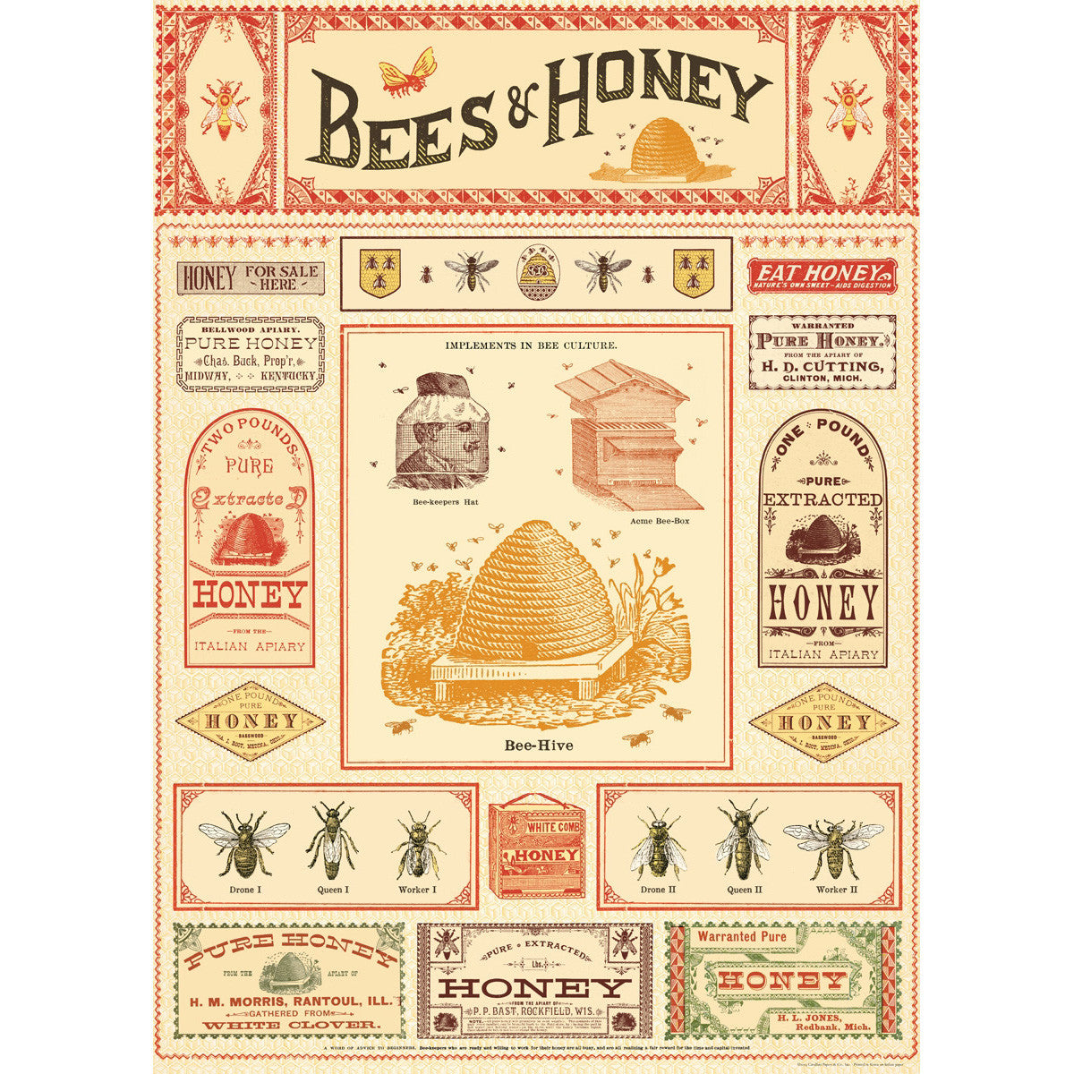 Bees & Honey Poster Wrap