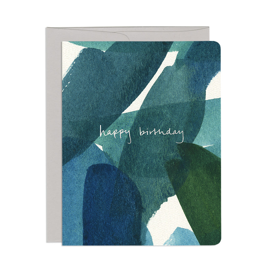Blue in Green Birthday Single Card