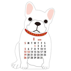 2020 French Bulldog Die Cut Calendar