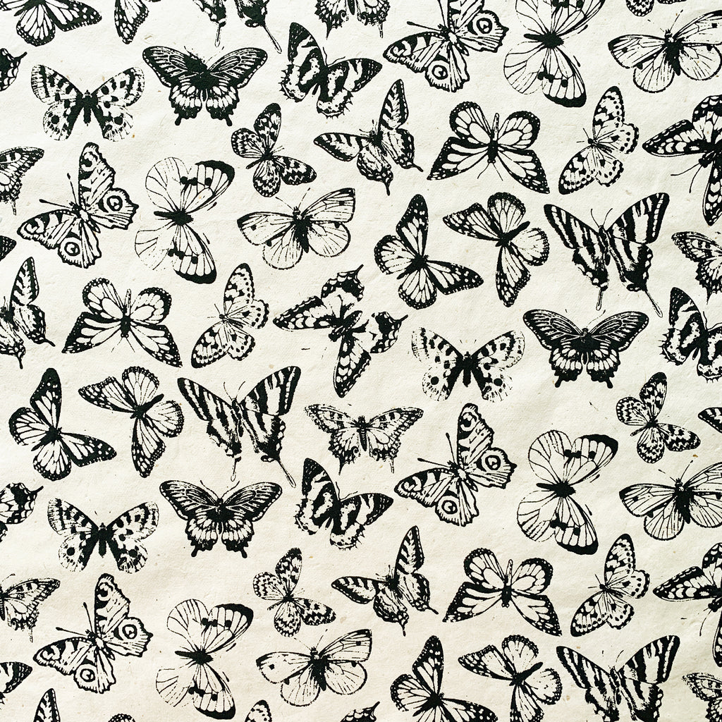 Butterfly - Black on Cream