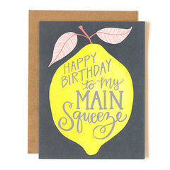 Lemon Birthday Main Squeeze Single Card