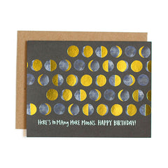 Here's To Many More Moons Birthday Single Card