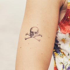 Cartolina Skull Temporary Tattoo (set of 2)