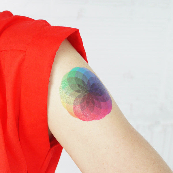 Colour Burst Temporary Tattoo (set of 2)