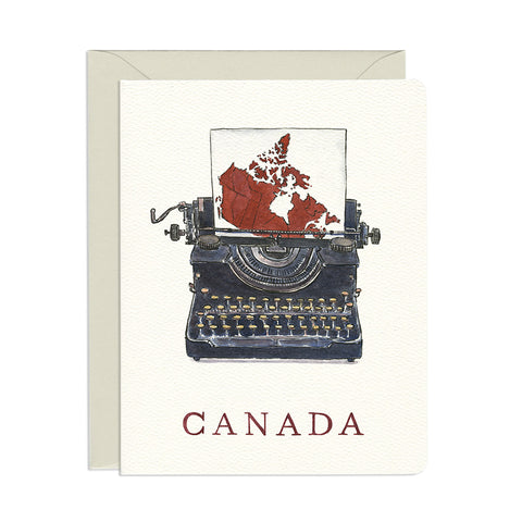 Canada Typewriter Single Card