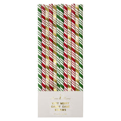 Merry Candy Cane Paper Straws