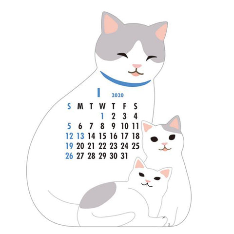 2020 Cats Die Cut Calendar
