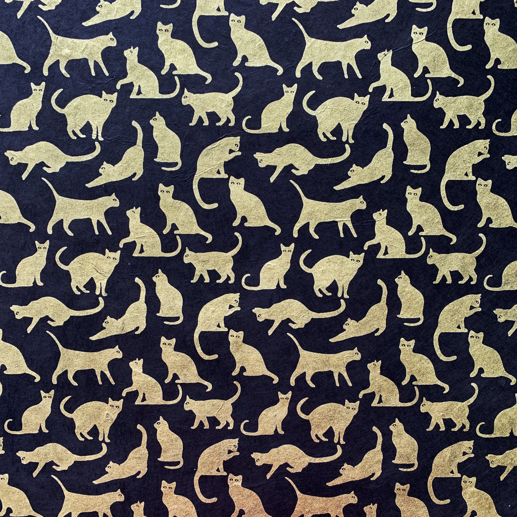 Cats - Gold on Black