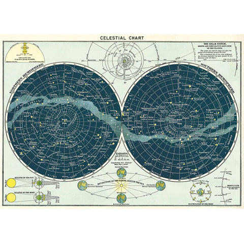 Celestial Chart Poster Wrap