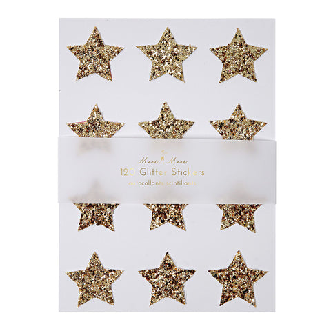Gold Star Glitter Stickers