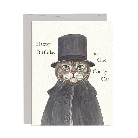 Classy Cat Birthday Single Card