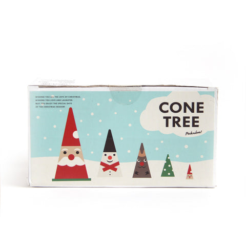 Wooden Cone Tree Decoration