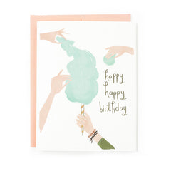 Cotton Candy Birthday Single Card