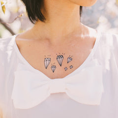 Diamonds Temporary Tattoo (set of 2)