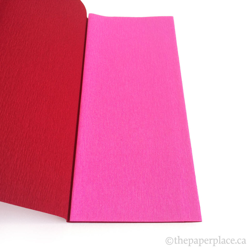 90g Double-Sided Crepe - Fuchsia/Maroon 3350