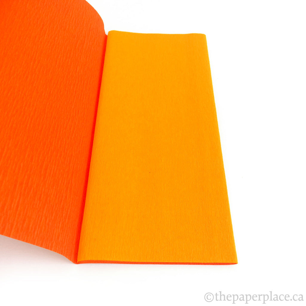 90g Double-Sided Crepe - Orange/Flame 3314