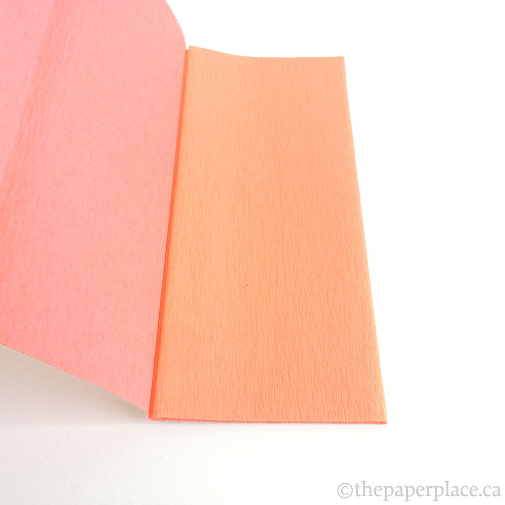 90g Double-Sided Crepe - Peach/Pink 3409