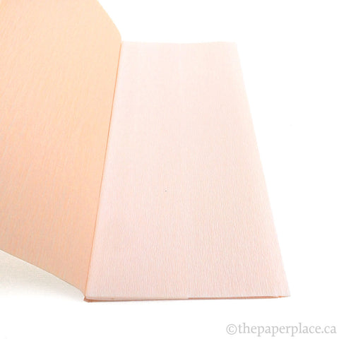90g Double-Sided Crepe - White/Peach