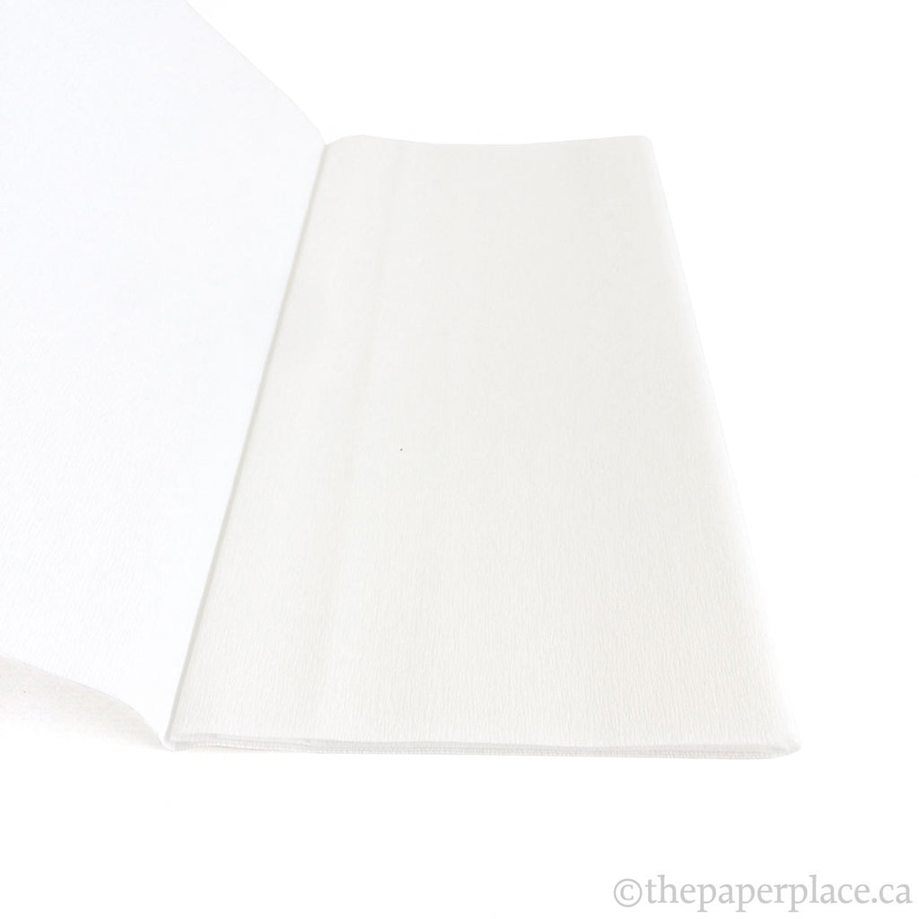 90g Double-Sided Crepe - White/White 3300