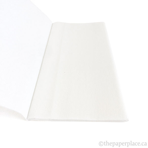 90g Double-Sided Crepe - White/White