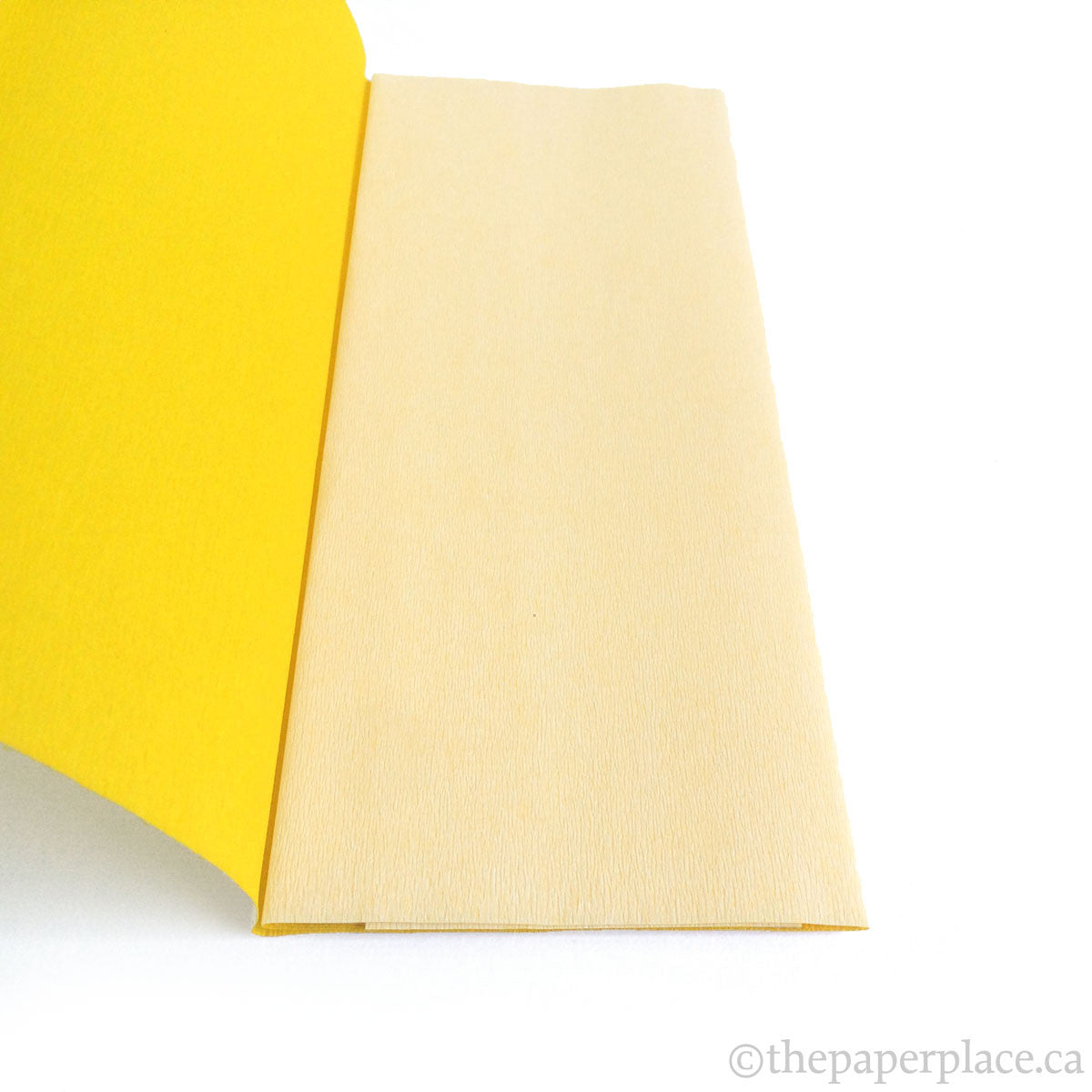 Double-Sided Crepe - White Yellow