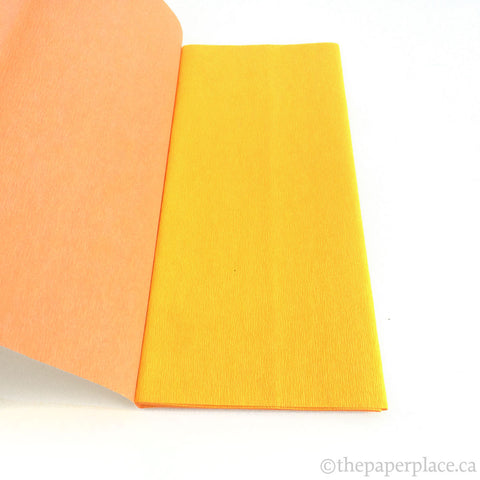 90g Double-Sided Crepe - Yellow/Salmon