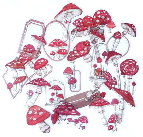 Mountain Plants Mushroom Sticker Set