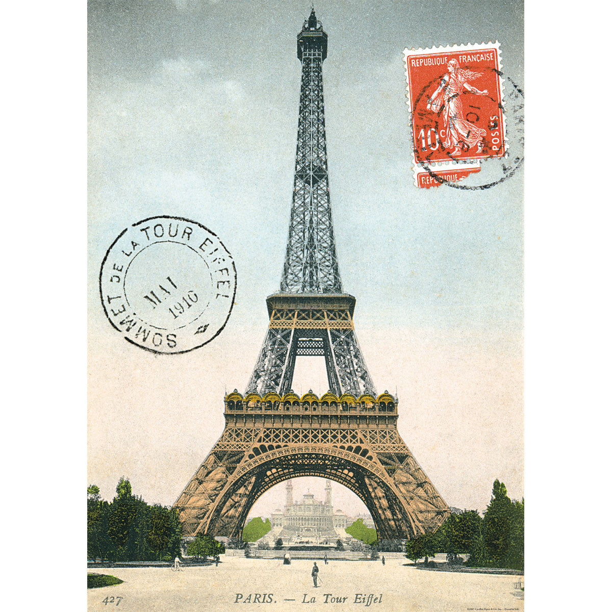 Eiffel Tower Poster Wrap