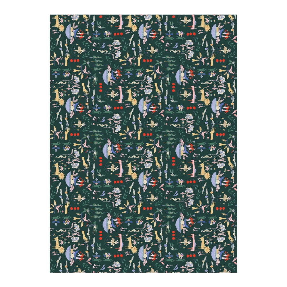 Emerald Holiday Gift Wrap Sheet, roll of 3