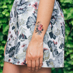 Floral Temporary Tattoo Set (set of 8)