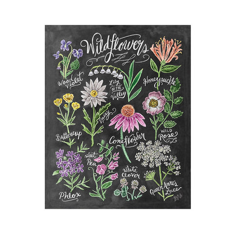 "Wildflower Field Guide 8x10"" Print"