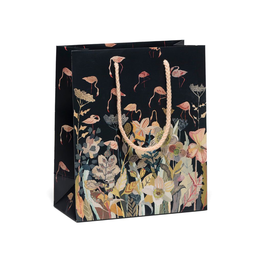 Floral Flamingo Medium Gift Bag