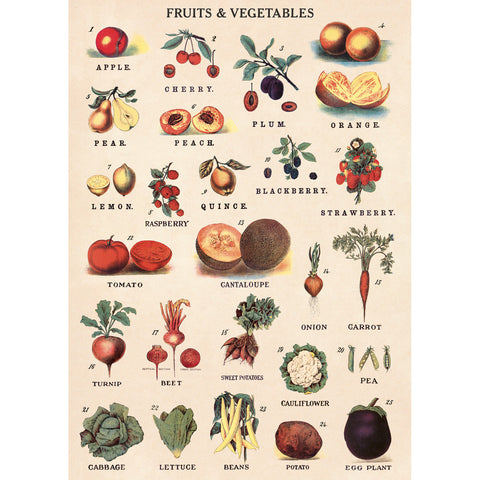Fruit & Vegetables Poster Wrap