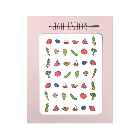 Fruit & Veggie Nail Tattoos