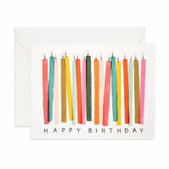 Rifle Birthday Candle Single Card