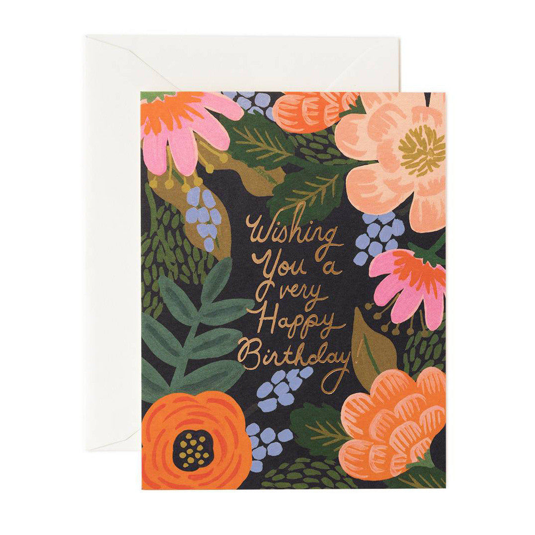 Rifle Bordeaux Birthday Single Card