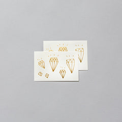Gold Diamonds Temporary Tattoo (set of 2)