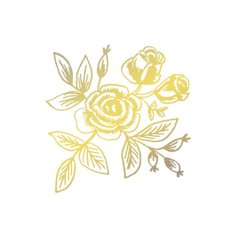 Gold Floral Temporary Tattoo (set of 2)