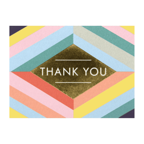 Geo Luxe Thank You Boxed Cards