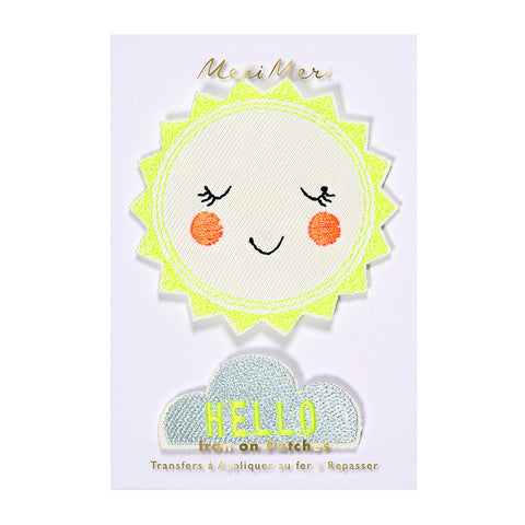 Hello Sunshine Embroidered Patches